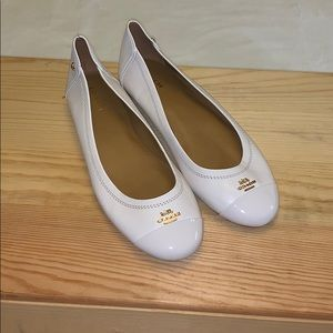 NEW Coach White Leather Ballet Flats size 8